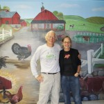 Tony and Judy Godino in front of Muscoot Farm mural